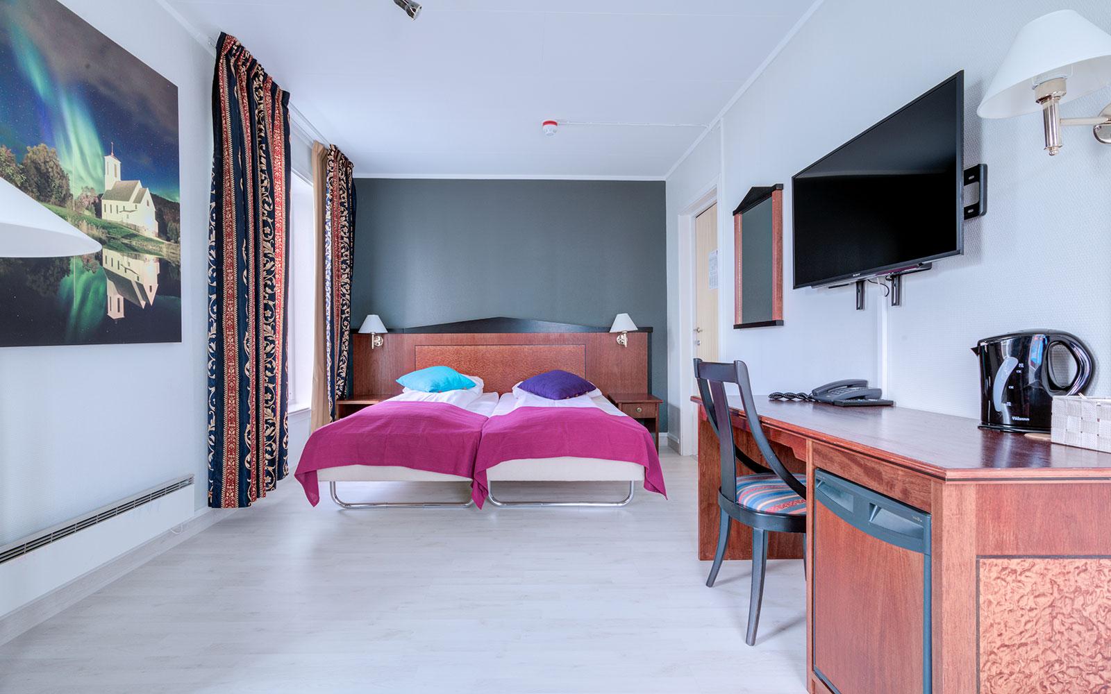 Standard dobbeltrom på Melbu Hotell